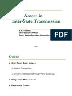 S K Soonee NLDC-Open Access in InterState Transmission 22July2011