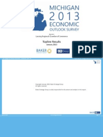 Michigan 2013 Economic Outlook Survey - Lansing Regional Chamber of Commerce - Topline Results
