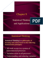 statistical thinking ans applications