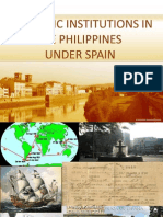 ECONOMIC INSTITUTIONS IN THE PHILIPPINES UNDER SPAIN