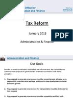 Gov. Deval Patrick's proposal for tax reform