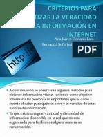 Criterios para garantizar la veracidad de la informacion