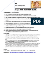 FOOD INSECURITY  Test Your Knowledge