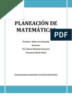 PLANEACIÓN PRIMERA JORNADA DE PRÁCTICA MATEMÁTICAS