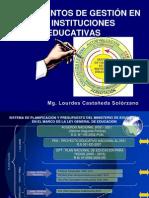 INSTRUMENTOS DE GESTIÓN EN LAS INSTITUCIONES EDUCATIVAS