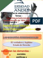Garantías jurisdiccionales  La constitución de 1924,1945,1946