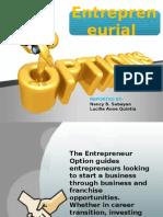 Entrepreneurial option