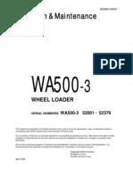 SEAM014506T O&M WA500-3 SN 52001 - 52379