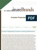 $FBN FBN Furniture Brands Jan 2013 Corporate Investor ICR Presentation Slides Deck PPT PDF