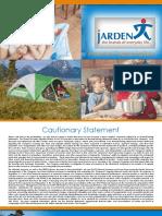 $JAH JAH Jarden Jan 2013 Corporate Investor ICR Presentation Slides Deck PPT PDF