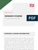 $SWSH Swisher Hygene Jan 2013 Corporate Investor ICR Presentation Slides Deck PPT PDF