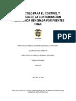 Resolución 2153 de 2010. Protocolo de fuentes fijas.