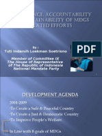 Governance, Accountability and Sustainability of the MDG