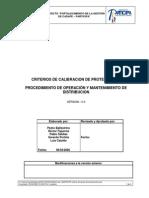NORMA CADAFE - Criterios de calibracion de protecciones. Procedimiento de operación y Mantenimiento de Distribucion.