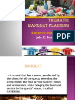 thematic banquet planning