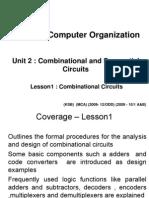 MC 9211 Computer Organization MCA UNIT 2