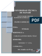 TÚNELES Y POZOS HIDRÁULICOS  alfzx