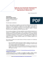 Solicitan a Cancillería Peruana rectifique exclusión de orientación sexual de proyecto de Convención sobre DDHH de Personas Mayores