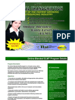 TTSI Online-Blended Medical Transcription Program