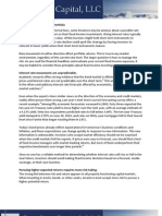 Fixed Income Portfolio Considerations
