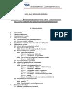 Terminos de referencia para proyecto de afianzamiento Hidrico.