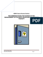 RECOMMENDATIONS FOR NURSES IN THE MANAGEMENT OF PATIENTS RECEIVING RADIOIODINE