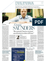 Intervista a George Saunders, Autore Del Libro Dell'Anno Per Il New York Times - La Repubblica 18.01.2013