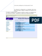 Evidencia de Como Configurar Un Access Point 3com