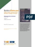 Berklee Substitutions
