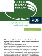 THE BODY SHOP MARKETING PLAN