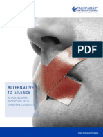 Alternative to silence WHISTLEBLOWER PROTECTION IN 10 EUROPEAN COUNTRIES