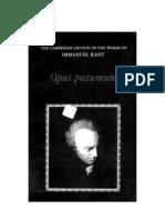 Immanuel Kant - Opus Postumum