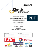 Ronda Pilipinas 2013 - Stage 5 Official Race Results