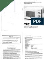 Manual de usuario de horno microondas TEC 5055