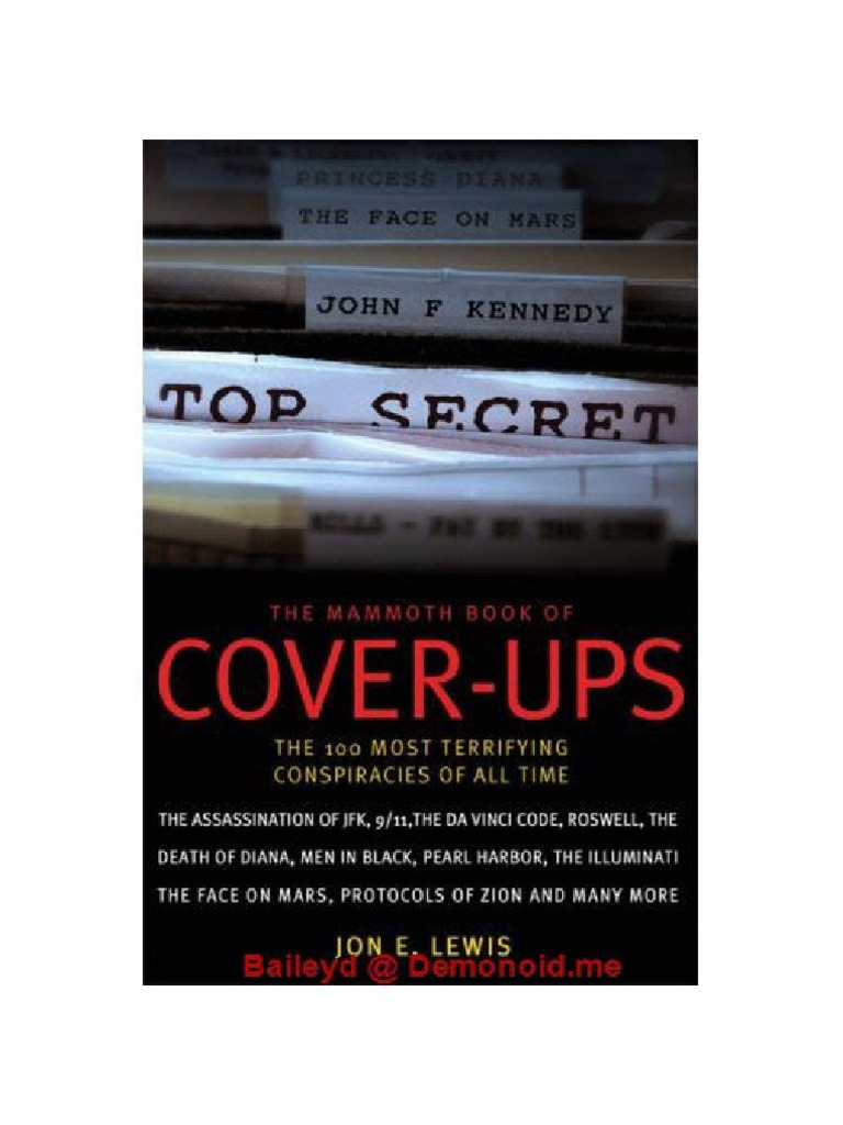 Cook Book Cover Ups : The mammoth book of cover ups