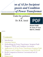 Application of AI for Incipient Fault Diagnosis and Condition Assessment of Power Transformer