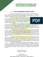 Os desafios e as lutas politicas e sociais em 2013