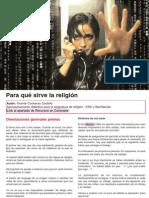 Cine | Para qué sirve la religión