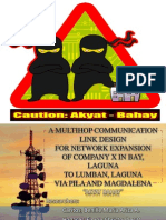 A MULTIHOP COMMUNICATIONLINK DESIGN FOR NETWORK EXPANSION OF COMPANY X IN BAY, LAGUNA TO LUMBAN, LAGUNA VIA PILA AND MAGDALENA