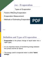 Chapter Three Evaporation