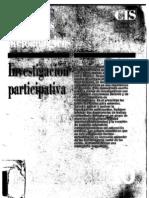 Gabarrón, L. y Hernández Landa, L. Investigación Participativa. Cuadernos Metodológicos. Nº 10. CIS.