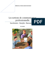 NOTIONS DE COMMUNICATION PROFESSIONNELLE