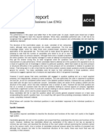 ACCA F4 ENG June 2010 examiner's report