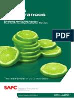 SAFC Flavors & Fragrances - 2009 New Certified Organics