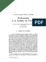 Krishnamurti et la Synthèse de l'Avenir, par André Niel