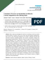 Cumulative Pressures on Sustainable Livelihoods