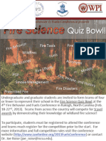 4th Fire Behavior and Fuels Conference Fire Science Quiz Bowl Flier