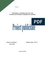 Proiect Publicitate Benvenuti