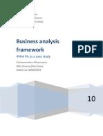 Business analysis framework - IPWA as a case study