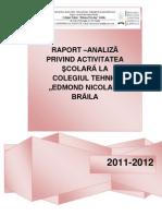RAPORT DE ACTIVITATE C.T.Edmond Nicolau Braila